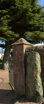 Photograph Pictish Stone Strathmiglo Fife Scotland UK