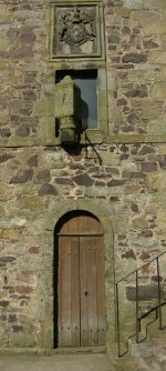 Photograph Tolbooth Door Strathmiglo Fife Scotland UK