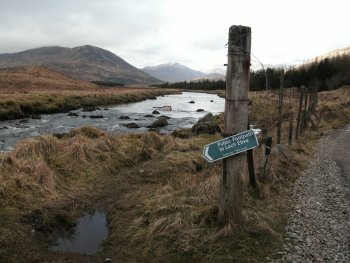 Photograph of Public Footpath to Glen Etive Scotland