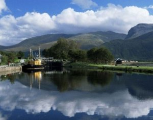 View Across Caledonian Canal Scotland