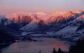 Loch Duich and Mountains Scotland