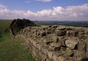 Looking west along Hadrians Wall photograph