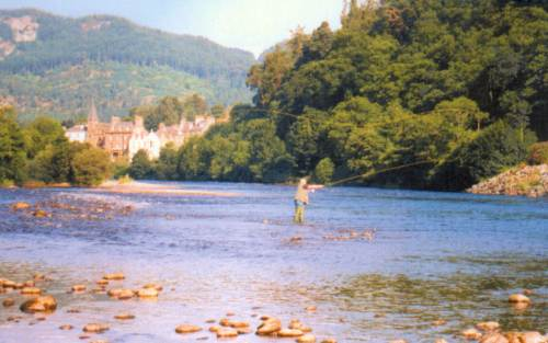 Salmon Fishing on the River Tay at Dunkeld